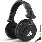 Studio Headphones MAONO AU-MH601 Over Ear Stereo Monitor Closed Back Headphones with 50mm Drivers for Music, DJ, Podcast (Black)