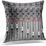 Emvency Square 16x16 Inches Decorative Pillowcase Music Mixer Sound Funny The Dream of A Tuner Polyester Decor Throw Pillow Cover with Hidden Zipper for Bedroom Sofa