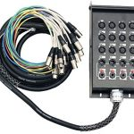 """Seismic Audio - SALS-12x4x25-12 Channel 25' Pro Stage XLR Snake Cable (XLR & 1/4"""" TRS Returns) for Recording, Stage, Studio use"""