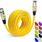 EBXYA 50 Feet DMX Cable XLR Patch Cables - Balanced XLR Microphone Cable Cord Male to Female, Yellow …