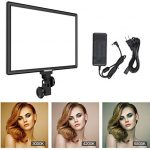 Bi-Color LED Video Lighting 15inch Large Panel Photography 3000K-5800K 45W 4800LM Dimmable Soft Light for YouTube Video Shooting Studio Wedding Film Portrait Lighting